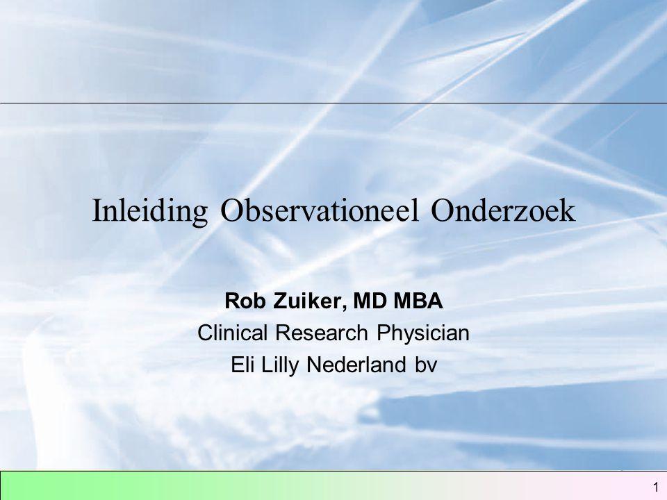 Inleiding Observationeel Onderzoek