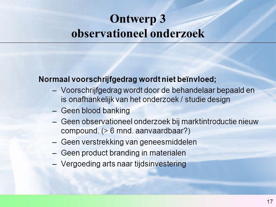 Ontwerp 3 observationeel onderzoek