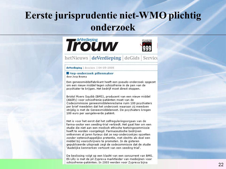 Eerste jurisprudentie niet-WMO plichtig onderzoek