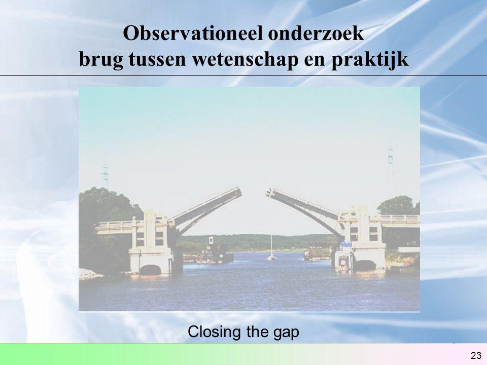 Observationeel onderzoek brug tussen wetenschap en praktijk