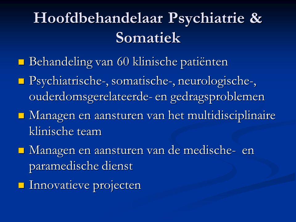 Hoofdbehandelaar Psychiatrie & Somatiek