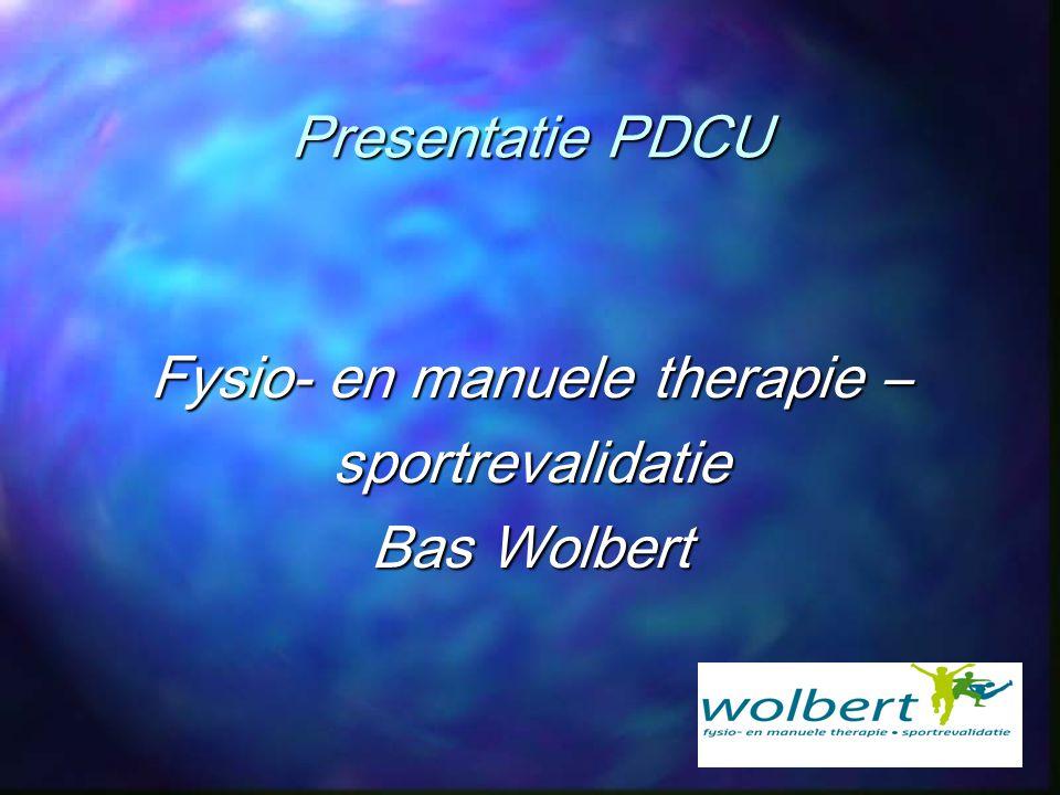 Fysio- en manuele therapie –
