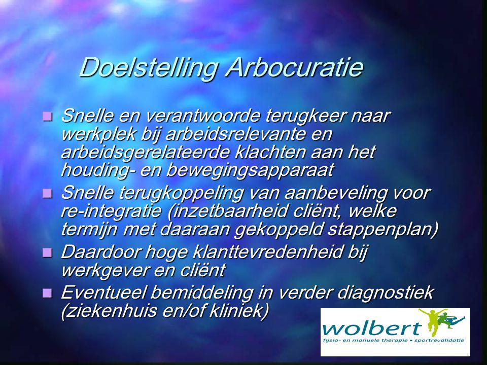 Doelstelling Arbocuratie