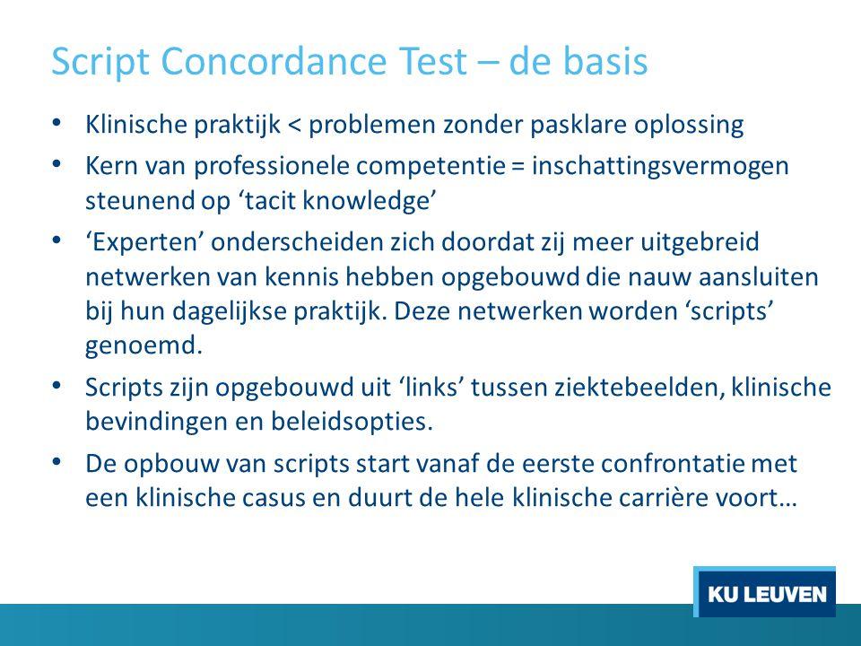 Script Concordance Test – de basis