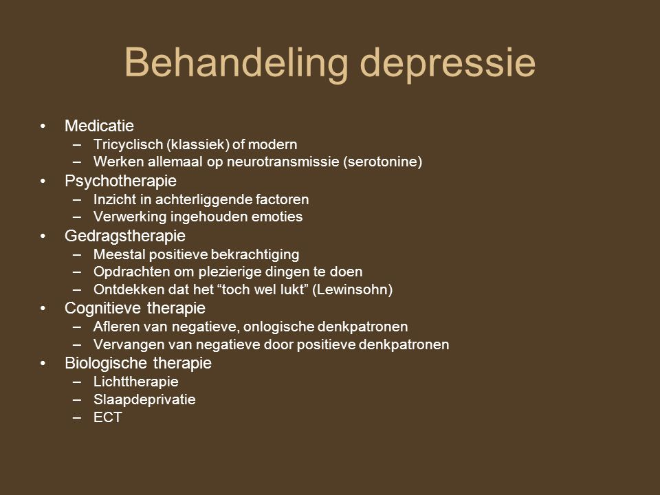 Behandeling depressie