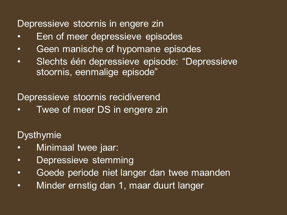 Depressieve stoornis in engere zin