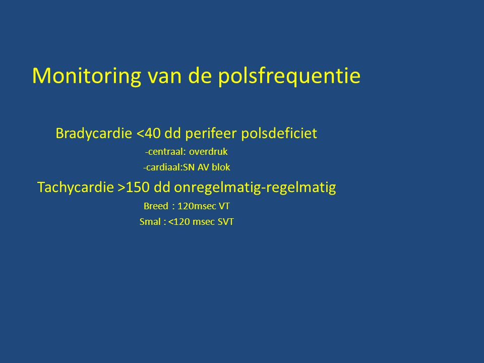 Monitoring van de polsfrequentie