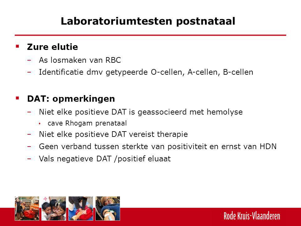 Laboratoriumtesten postnataal