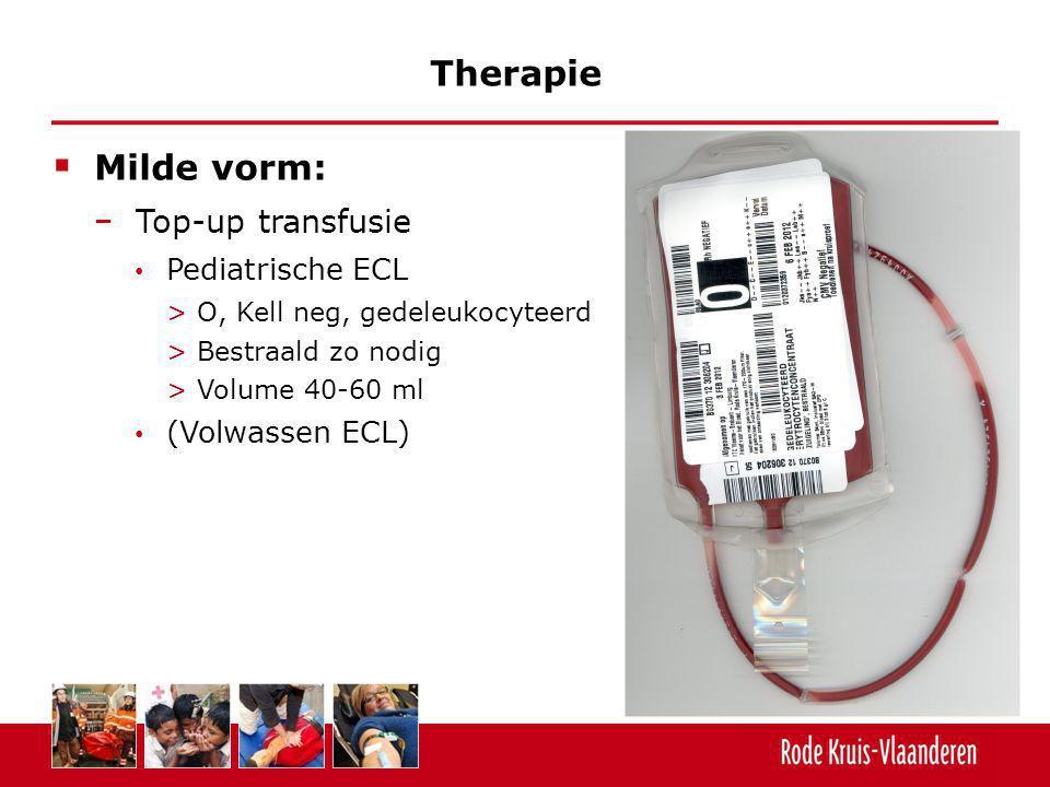 Therapie Milde vorm: Top-up transfusie Pediatrische ECL