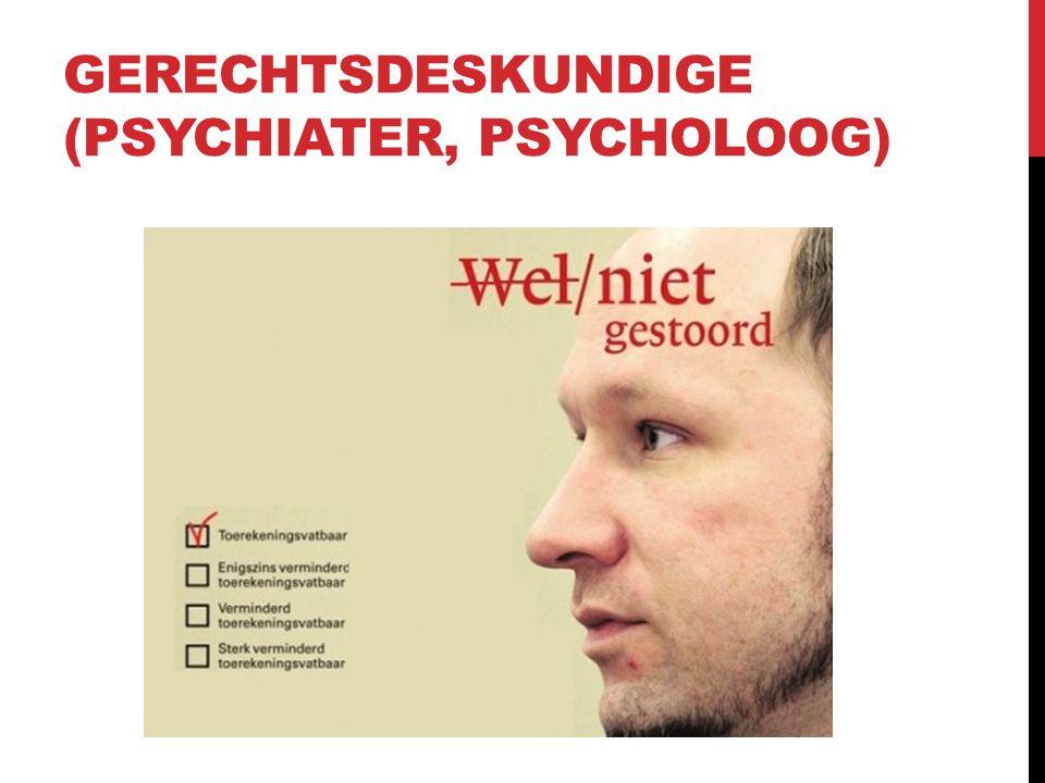 Gerechtsdeskundige (psychiater, psycholoog)