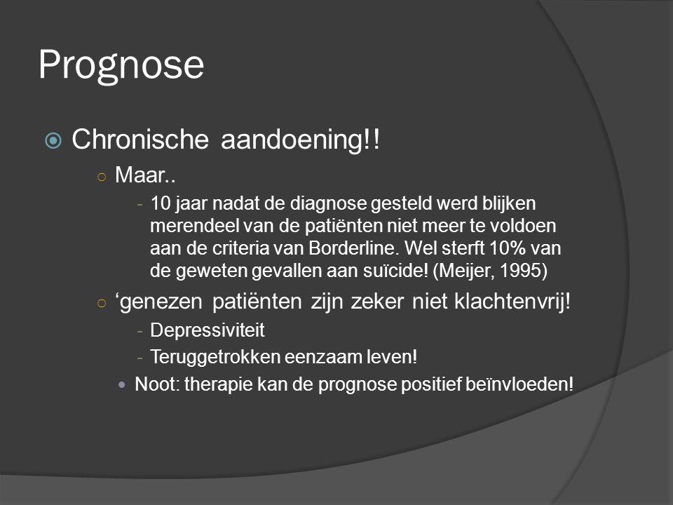 Prognose Chronische aandoening!! Maar..