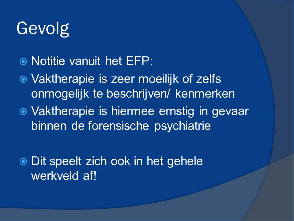 Gevolg Notitie vanuit het EFP: