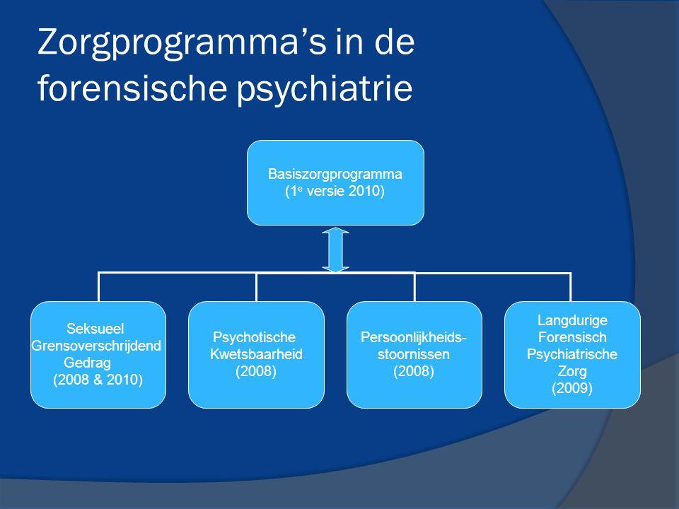 Zorgprogramma's in de forensische psychiatrie
