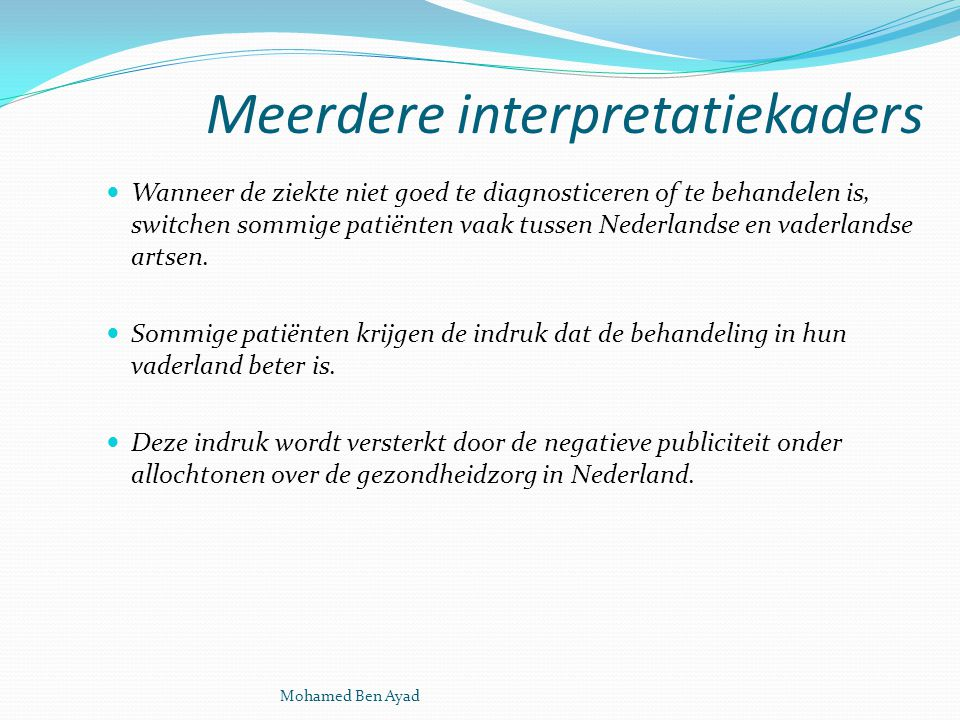 Meerdere interpretatiekaders