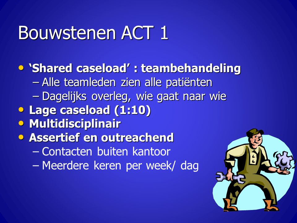 Bouwstenen ACT 1 'Shared caseload' : teambehandeling