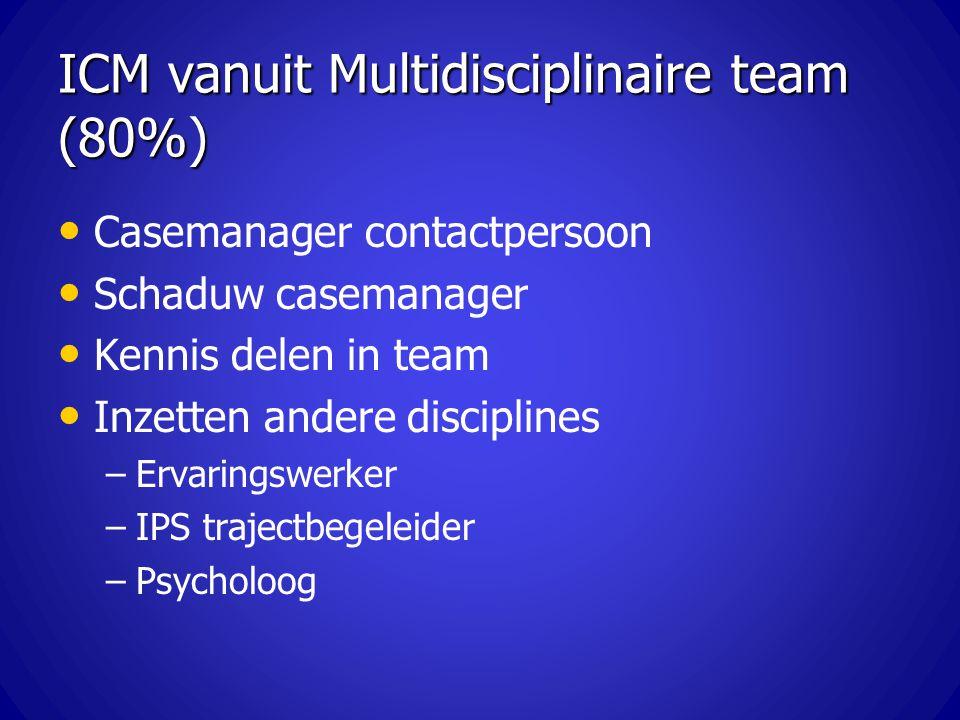 ICM vanuit Multidisciplinaire team (80%)
