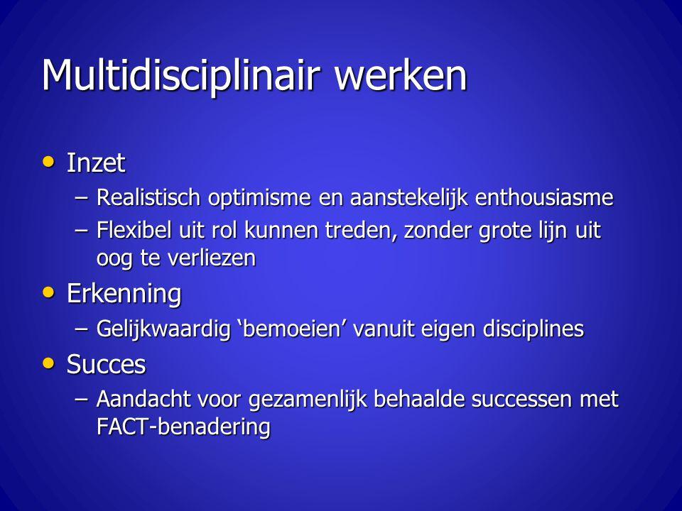 Multidisciplinair werken