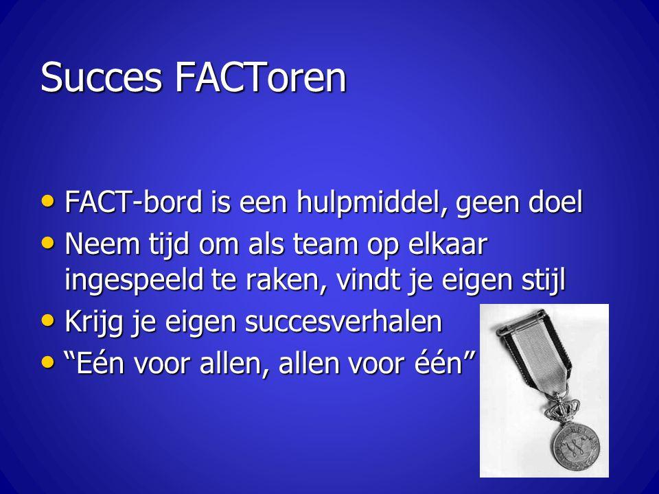 Succes FACToren FACT-bord is een hulpmiddel, geen doel