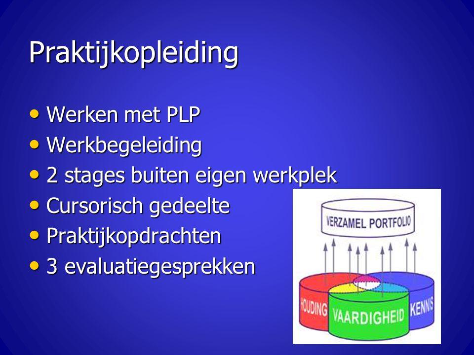 Praktijkopleiding Werken met PLP Werkbegeleiding