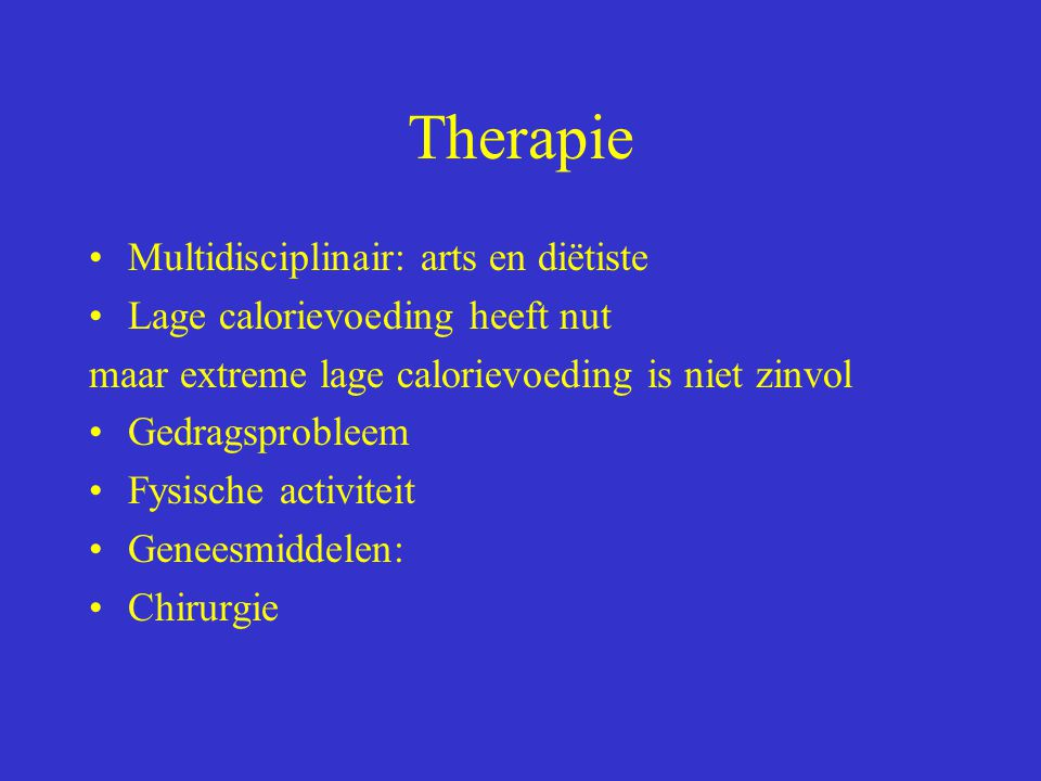 Therapie Multidisciplinair: arts en diëtiste