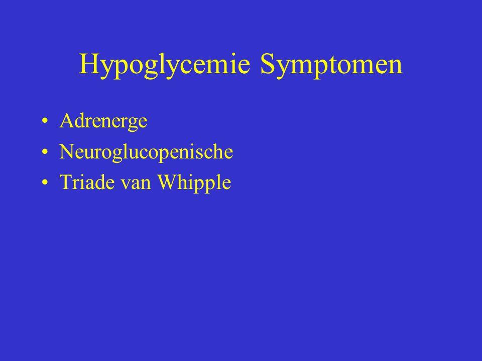 Hypoglycemie Symptomen