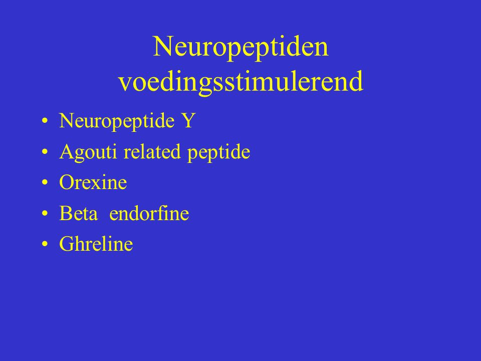 Neuropeptiden voedingsstimulerend