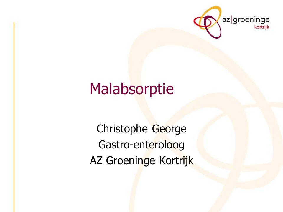 Christophe George Gastro-enteroloog AZ Groeninge Kortrijk