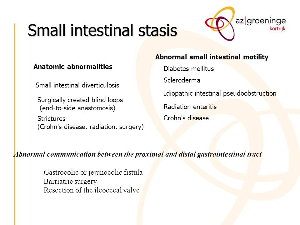 Small intestinal stasis