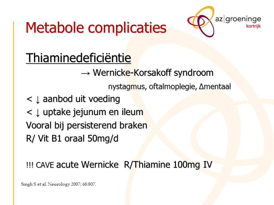 Metabole complicaties
