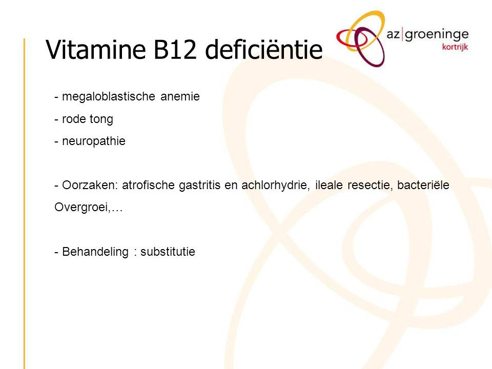 Vitamine B12 deficiëntie