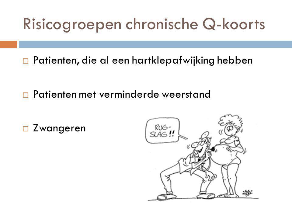 Risicogroepen chronische Q-koorts