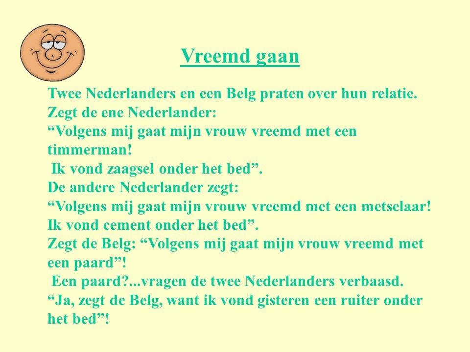 Vreemd gaan Twee Nederlanders en een Belg praten over hun relatie.