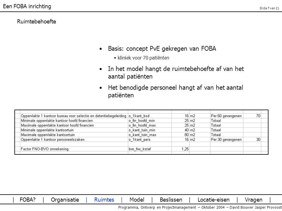 Basis: concept PvE gekregen van FOBA