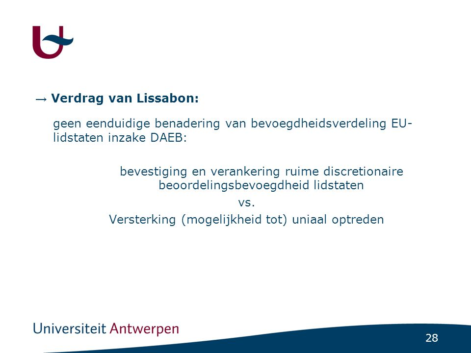 Conclusie bevoegdheidsverdeling: