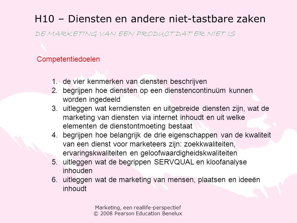 H10 – Diensten en andere niet-tastbare zaken