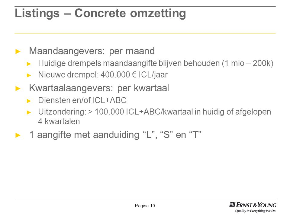 Listings – Concrete omzetting