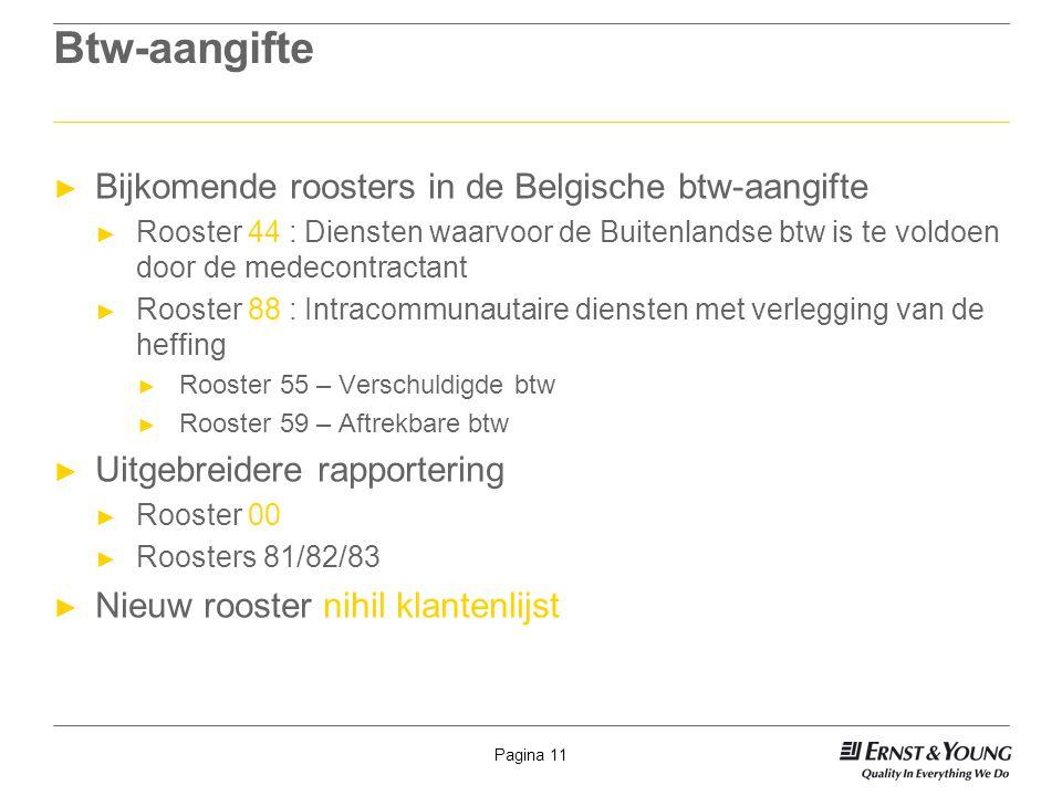 Btw-aangifte Bijkomende roosters in de Belgische btw-aangifte