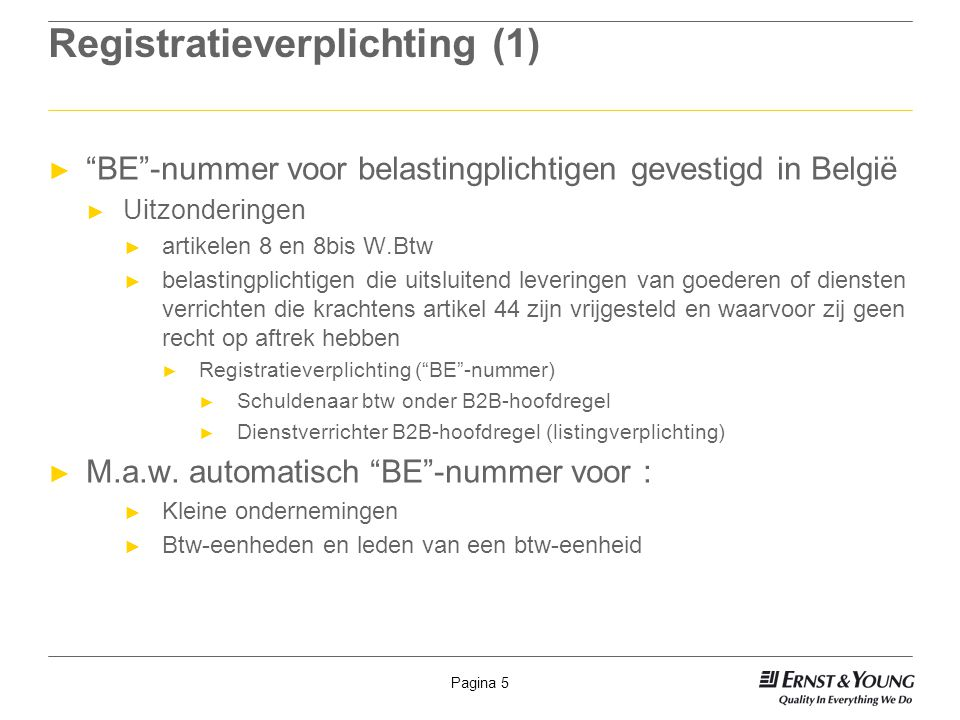 Registratieverplichting (1)