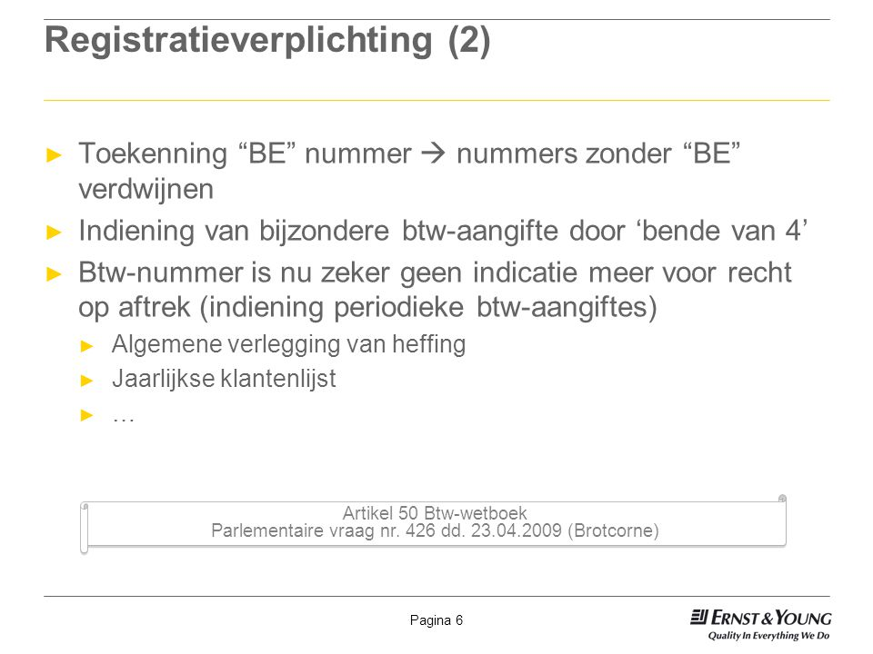 Registratieverplichting (2)
