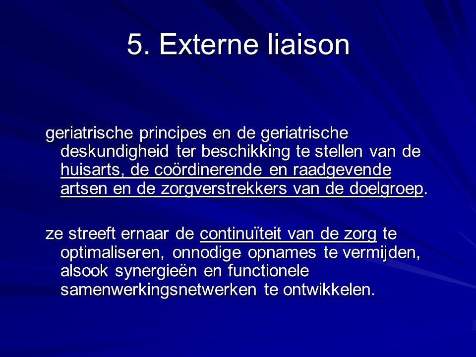 5. Externe liaison