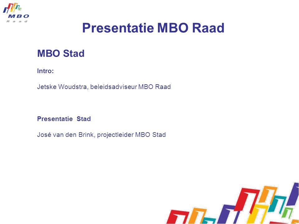 Presentatie MBO Raad MBO Stad Intro: