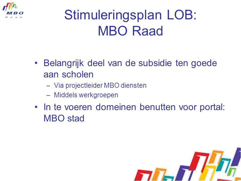 Stimuleringsplan LOB: MBO Raad