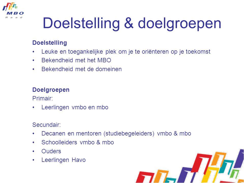 Doelstelling & doelgroepen