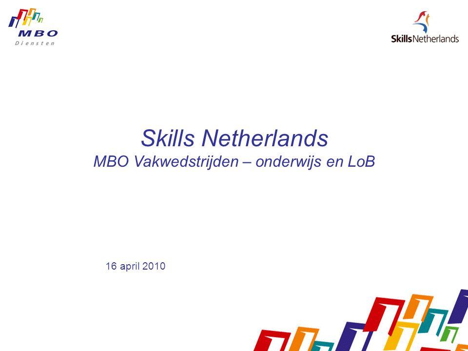 Skills Netherlands MBO Vakwedstrijden – onderwijs en LoB