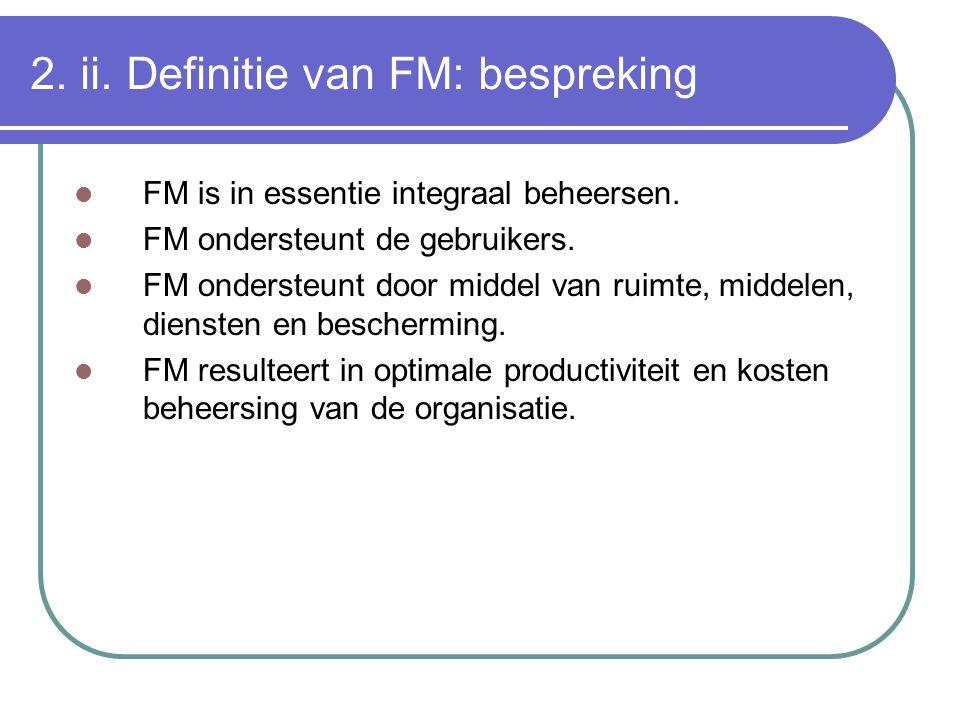 2. ii. Definitie van FM: bespreking