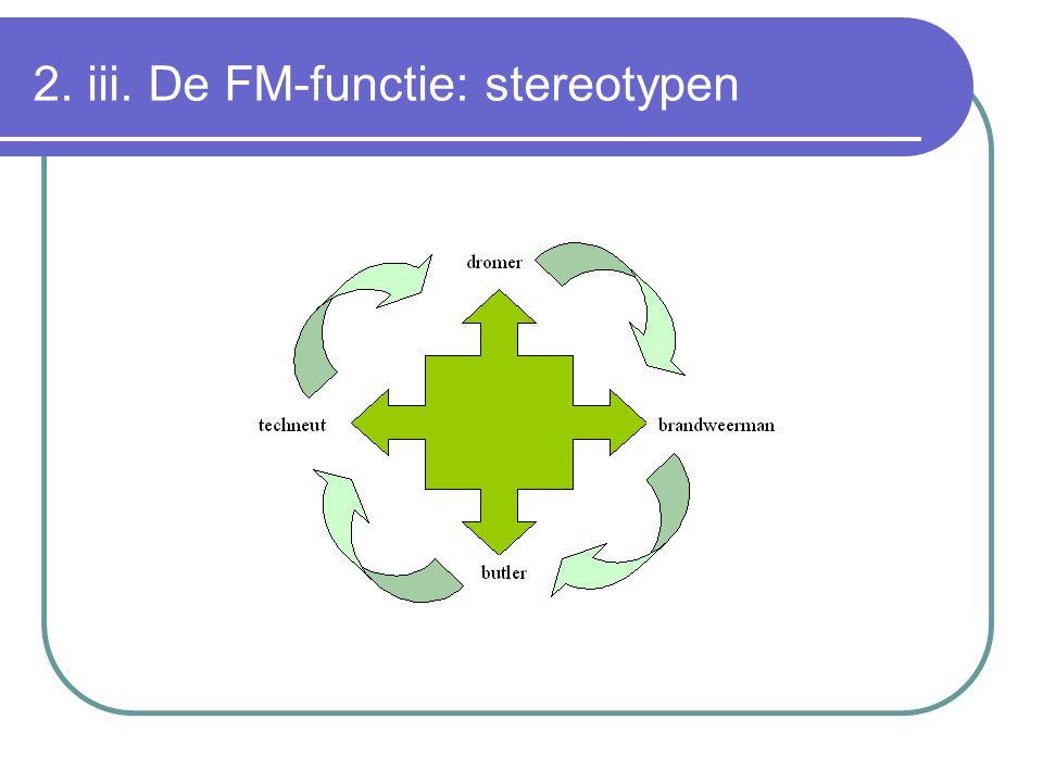 2. iii. De FM-functie: stereotypen