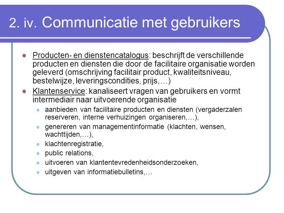 2. iv. Communicatie met gebruikers