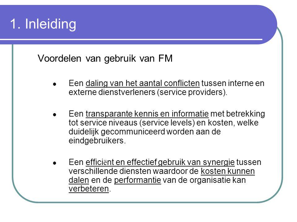 1. Inleiding Voordelen van gebruik van FM