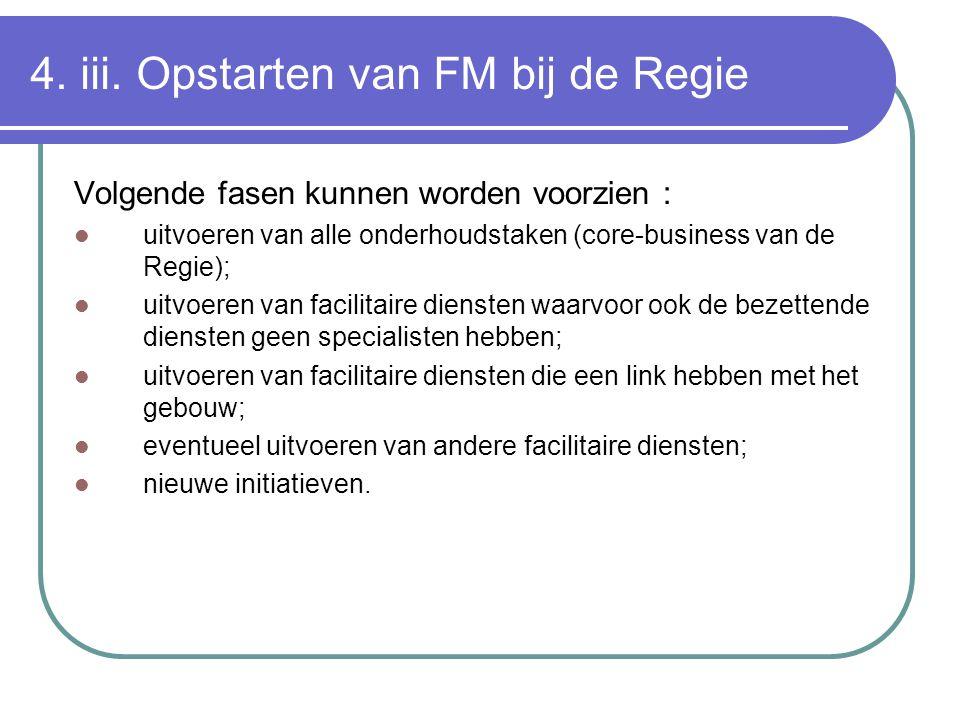4. iii. Opstarten van FM bij de Regie