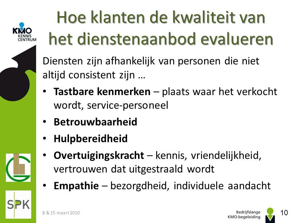 Hoe klanten de kwaliteit van het dienstenaanbod evalueren